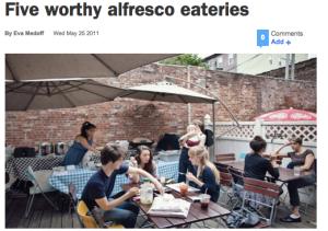 al fresco eateries