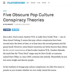 pop culture conspiracy